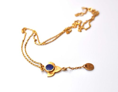 Anar gold plated silver and lapis pendant necklace zivarish jewellery anar gold plated silver and lapis pendant necklace mozeypictures Images