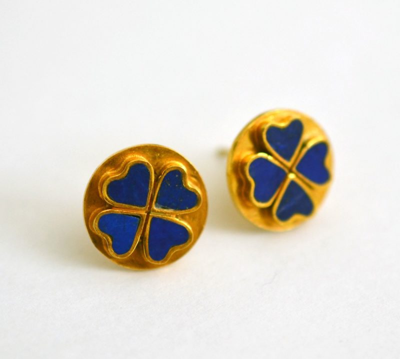stud jewellery gold zivarish and product earrings nastaran plate lapis
