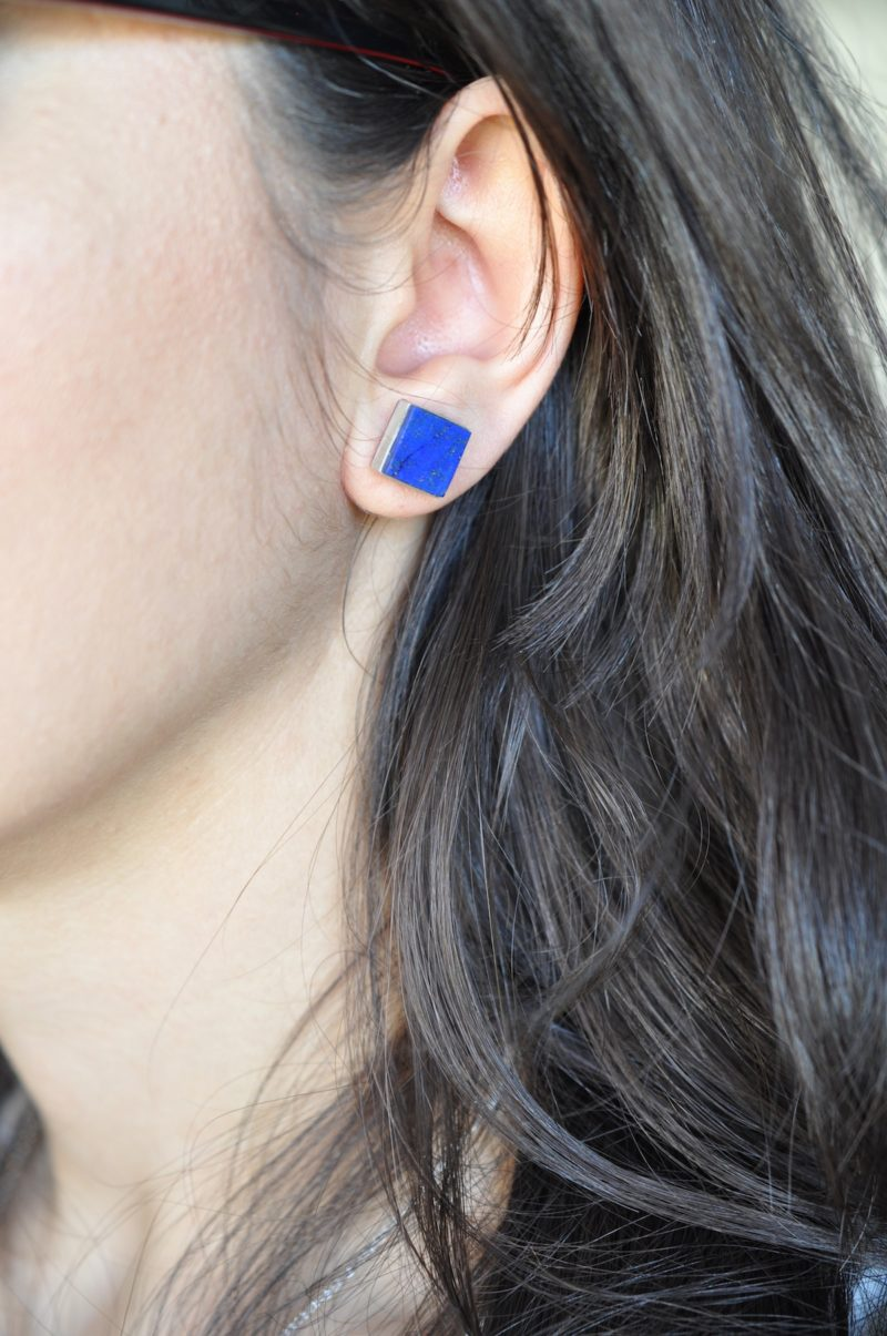 room stud blue lapis silver earrings property sterling cz l