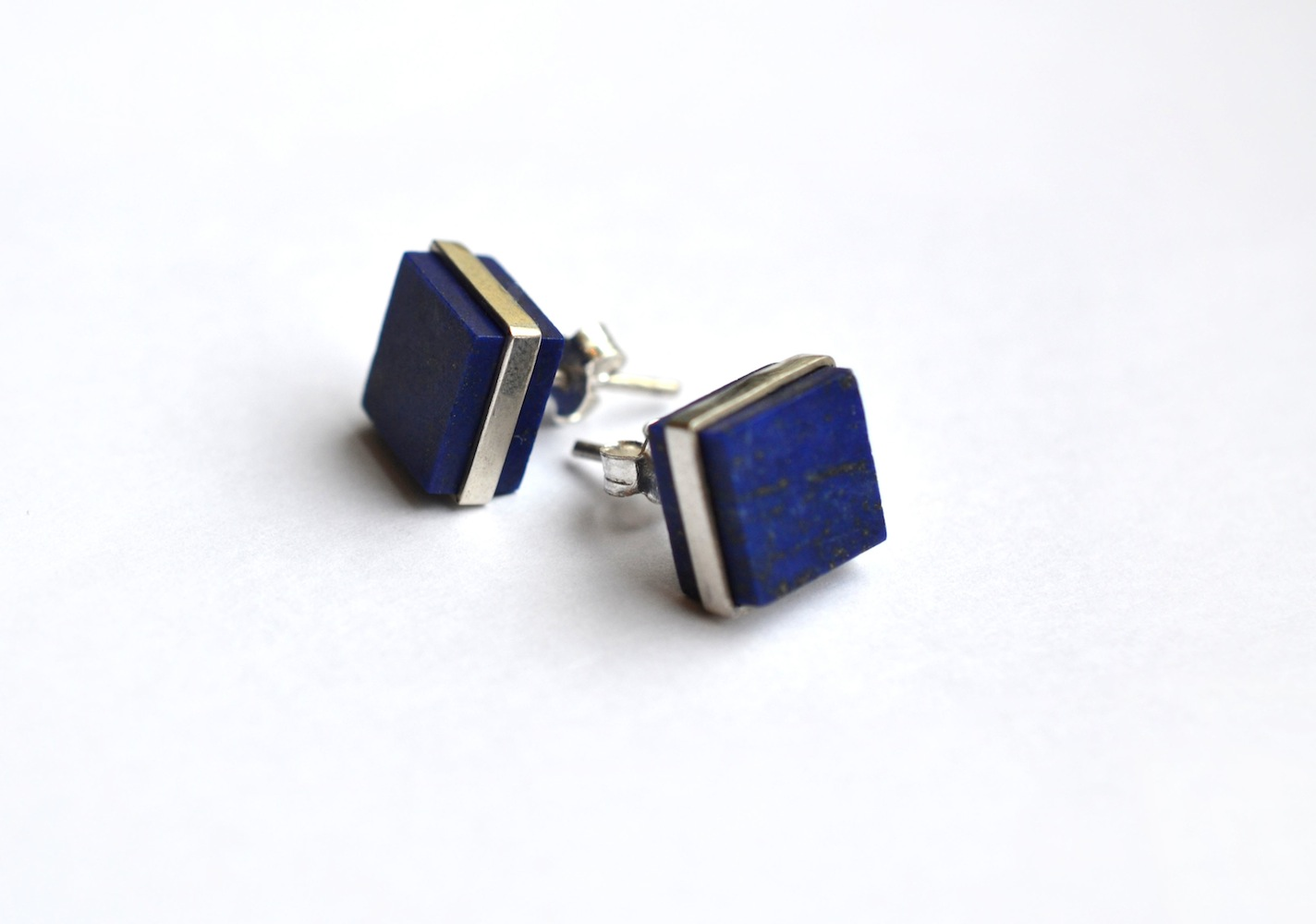 lapis lazuli and earrings gold raleigh stud quercus studs