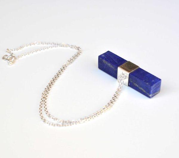 Vida serenity silver and lapis pendant necklace zivarish jewellery vida serenity silver and lapis pendant necklace aloadofball Choice Image